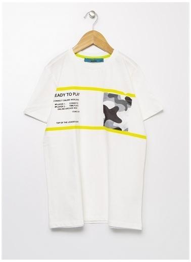 Funky Rocks Funky Rocks Bisiklet Yaka Beyaz T-Shirt Beyaz
